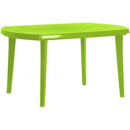 Plastový oválný stůl ELISE - light green