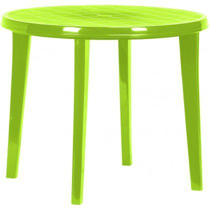 Plastový kulatý stůl LISA - light green