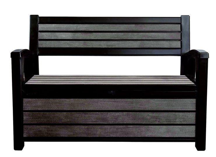 Zahradní lavice s úložným prostorem HUDSON - antracit