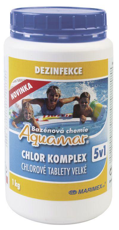 Bazénová chemie AquaMar Komplex 5v1 1,0 kg